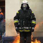 Feuerwehrmann in Flammen