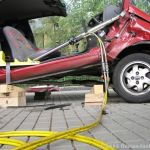 Hydraulikstempel im Einsatz beim Verkehrsunfall