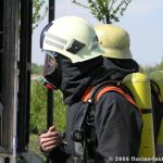 Atemschutztrupp kurz vor dem Einsatz