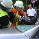 Besucher an Rettungsgeräten