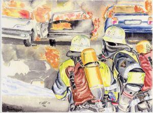 Großbrand beim Autoverwerter (Bildquelle: Tom Ehrl)
