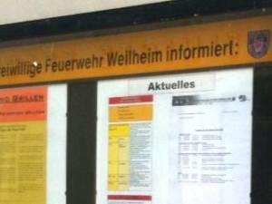 Infokasten Freiwillige Feuerwehr