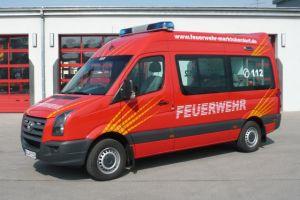 Das Fahrzeug mit dem Siegerdesign (Quelle: Feuerwehr Marktoberdorf)