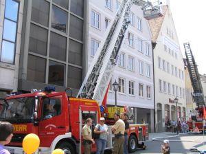 Drehleiter Memmingen Feuerwehr