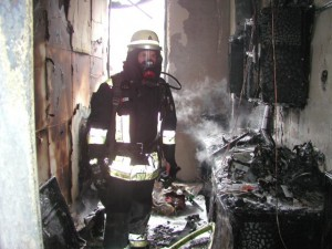 "My last ""real"" interior attack in Dachau: fire at the EMS building (Picture: KFV Dachau)"