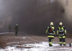 My first interior attack at the Dachau Fire Department: a fire in the basement of a factory (Picture: KFV Dachau)