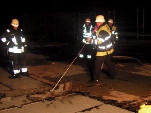 Zusammenarbeit mit der BF München, beim Dehnfungenbrand im Dachauer Krankenhaus