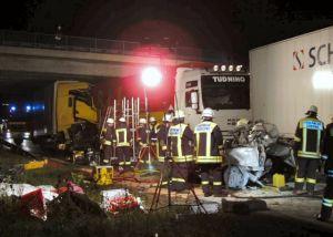 Stauende LKW Unfall