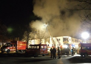 Fire in a storage facility in Dachau. The biggest incident of the last couple years (KFV Dachau)
