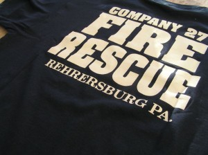A firefighter t-shirt from the Keystone Fire Company in Pennsylvania