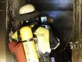 Blick durch die Wärmebildkamera, nicht nur im Kellerraum sondern auch darüber (Foto: Feuerwehr München)