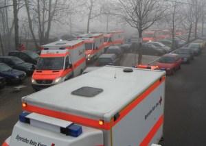 Besonders Rettungsfahrzuege müss bei der Positionierung auch ihre Abfahrtsmöglichkeiten im Auge behalten