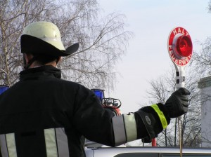 With a signaling disk in their hands some firefighters' egos soar