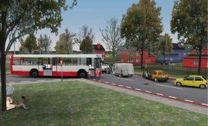 Mehrere verletzte Personen sind um und im Linienbus (Foto: E-Semble)
