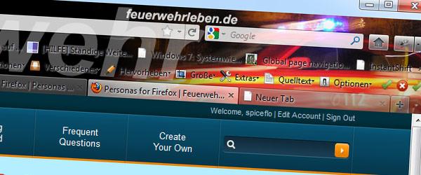 Firefox Personas Feuerwehr