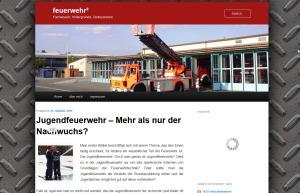 So schaut der erste Blog-Sprössling von feuerwehrleben.de aus