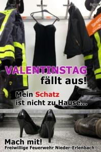 Die Valentinsaktion der Feuerwehr Nieder-Erlenbach