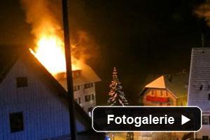 Dachstuhlbrand Feuerwehr