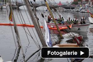 Segelschiff gekentert