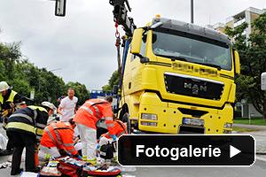 LKW Unfall Feuerwehr München