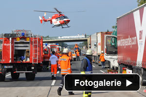 LKW Unfall Feuerwehr
