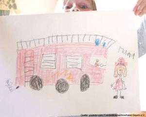 Kind sind stolz auf Ihre Eltern die in der Freiwilligen Feuerwehr sind