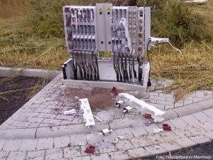 Verteilerkasten Kabelbrand Explodiert