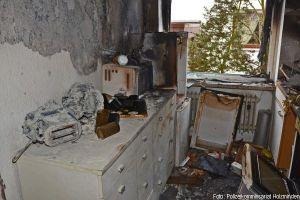 Küchenbrand Rauchvergiftung