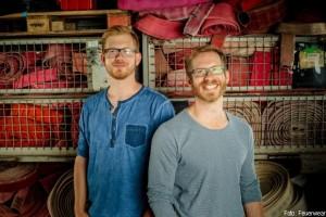 Die beiden Brüder und Geschäftsführer von Feuerwear Martin und Robert Klüsener